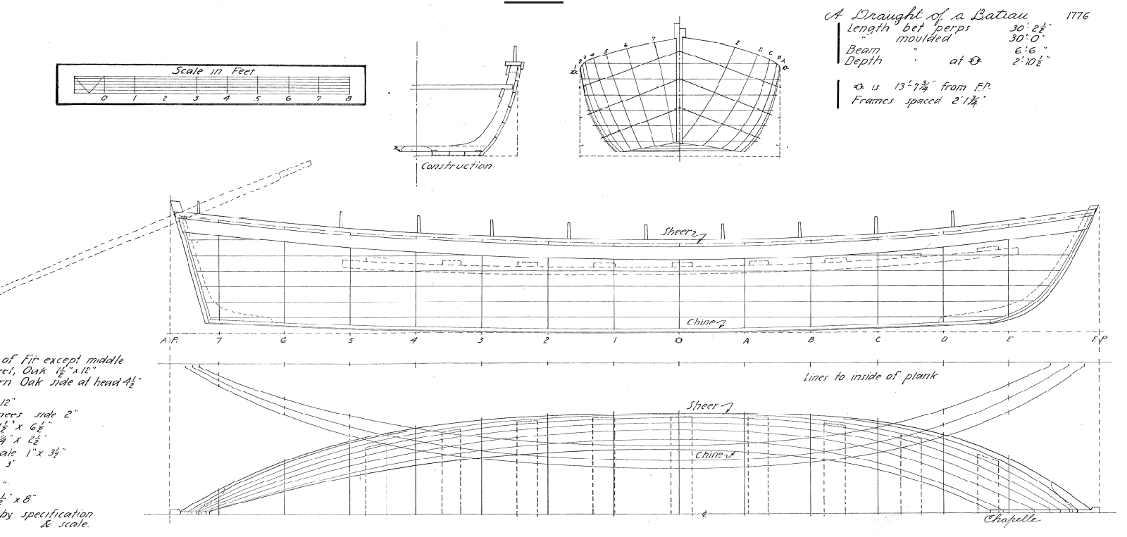 boat building demonstrations launch event ge e washington s Beam Section drawing by howard l chapelle courtesy of the smithsonian nmah maritime collections