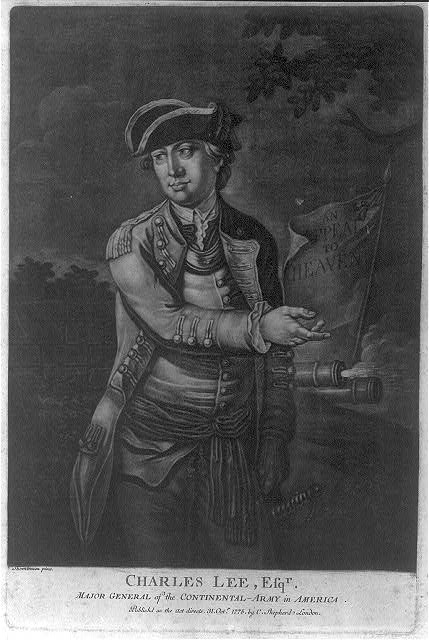 Charles Lee, mezzotint, published in London by C. Shepherd, 1775. Library of Congress call number PC 1 - 5296 (A size) [P&P]
