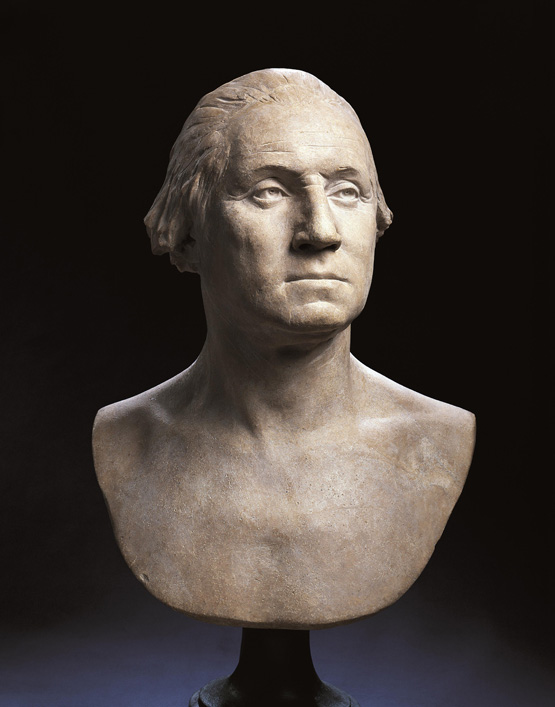 The Houdon Bust, intended to be esiring the most accurate likeness possible by its artist