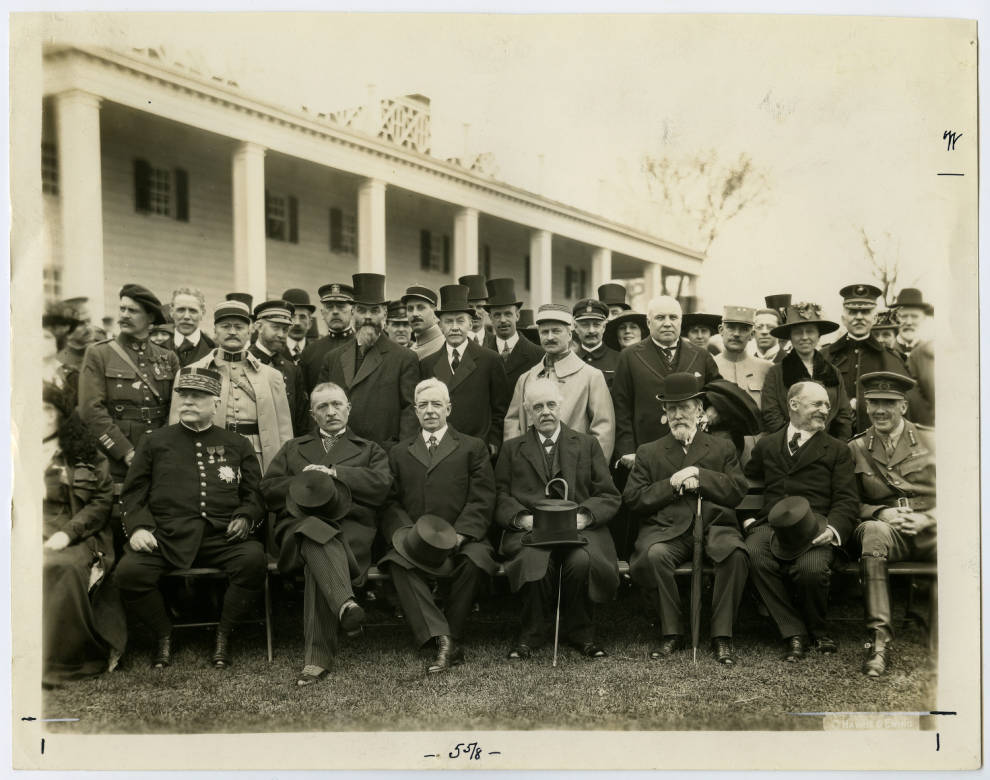 French and British Missions visit Mount Vernon, April 29, 1917,