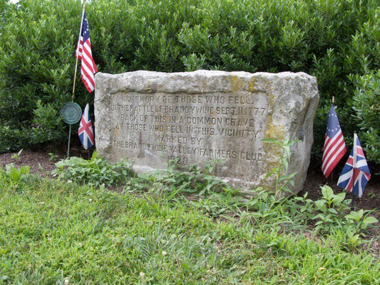 Memorial to the American and British soldiers that fell near Birmingham Hill on the Brandywine Battlefield (Rob Shenk)
