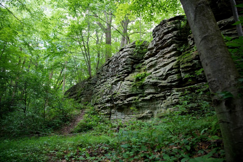 The rocky bluffs at Jumonville Glen (Rob Shenk)