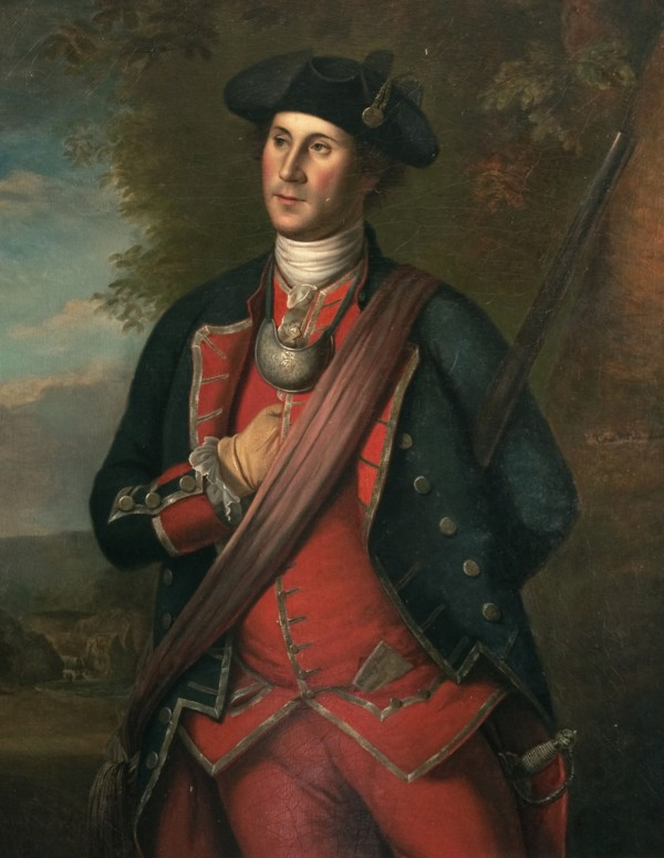 George Washington as First Colonel in the Virginia Regiment, Charles Willson Peale, oil on canvas, 1772 [U1897.1.1]. Gift of George Washington Custis Lee, University Collections of Art and History, Washington & Lee University, Lexington, Virginia