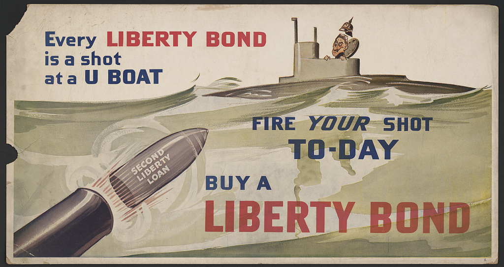 Every Liberty Bond is a shot at a U boat--Fire your shot today--Buy a Liberty Bond, c. 1917, Library of Congress Prints and Photographs Division