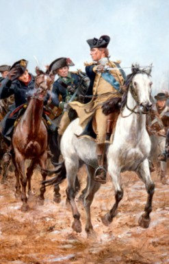 Painting by Don Troiani of Washington at the Battle of Princeton (Source: Don Troiani, WBritain.com)