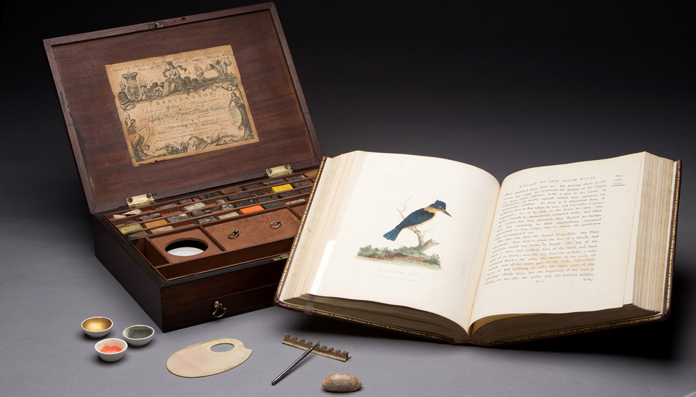 Paint box: Gift: Jess and Grace Pavey Fund, 2013 (W-5326/A-U); Journal: Courtesy of The Colonial Williamsburg Foundation (photographs by Mark Finkenstaedt)
