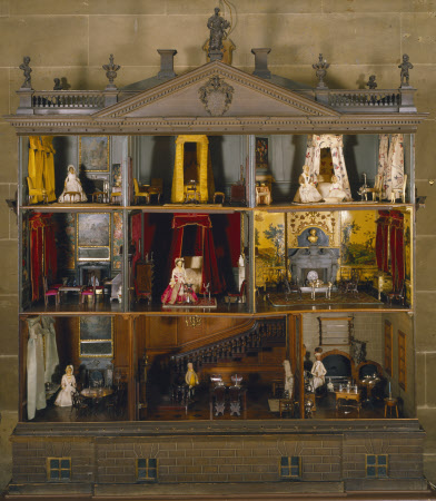 Covered-cornices abound in the bedchambers of the Nostell Priory dollhouse. See the details of each room at the National Trust online collection: http://www.nationaltrustcollections.org.uk Courtesy of Nostell Priory, West Yorkshire, National Trust Collections