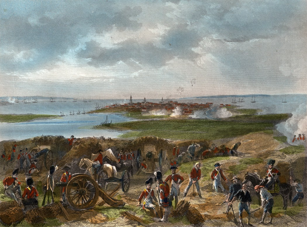 Siege of Charleston, by Alonzo Chappel, c. 1862. Courtesy, Anne S.K. Brown military Collection, Brown Library.
