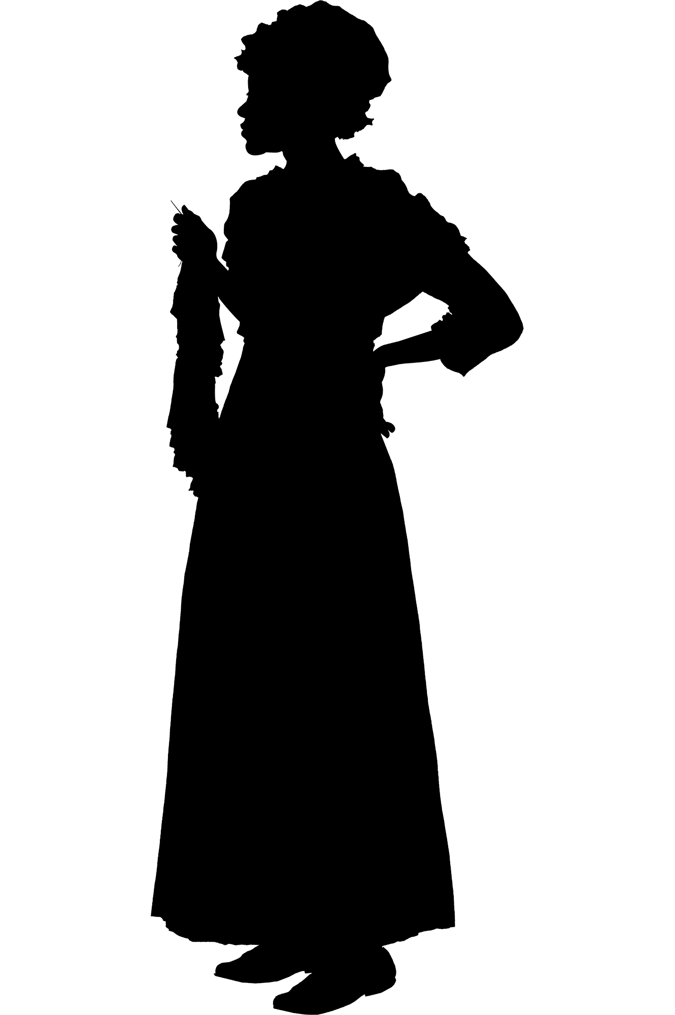 Silhouette of Ona Judge from Lives Bound Together, Mount Vernon.