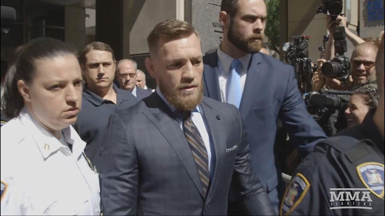 Conor McGregor Appears at Brooklyn Courthouse, Releases ...