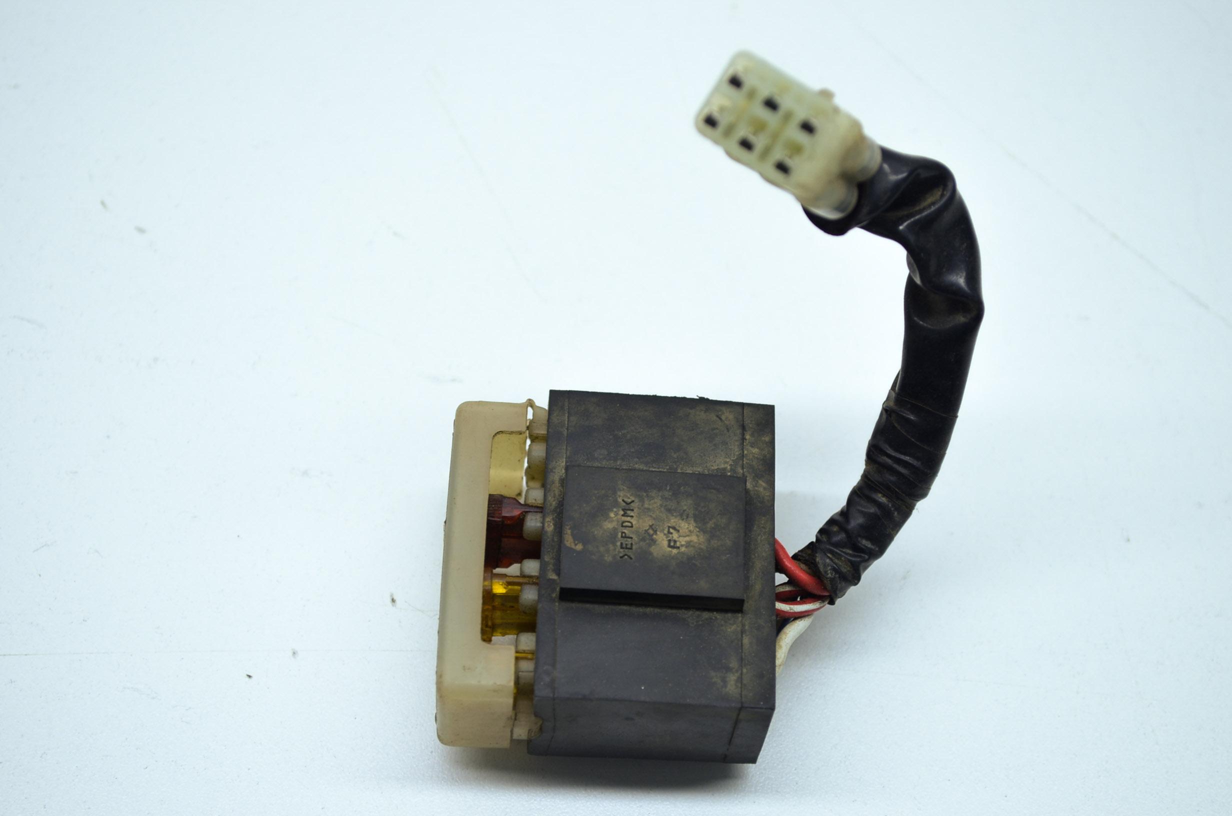 Prairie14 25 02 kawasaki prairie 650 4x4 fuse box assembly kvf650 kvf650 ebay kawasaki fuse box at aneh.co