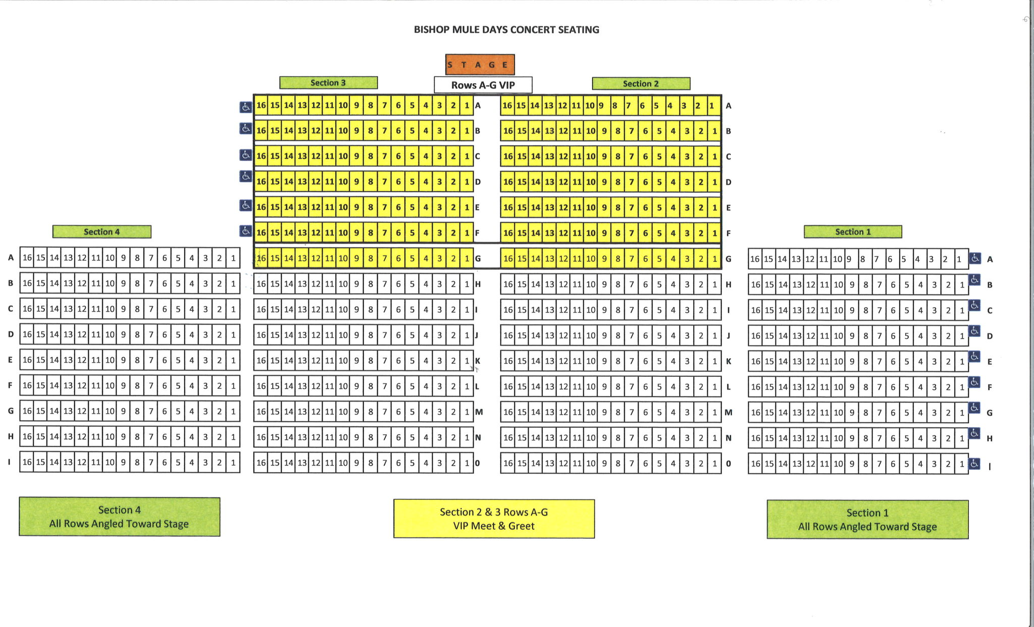 Mule Days Concert Seating Map