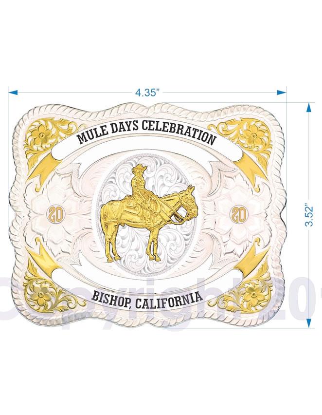 2020 Mule Days Celebration Buckle