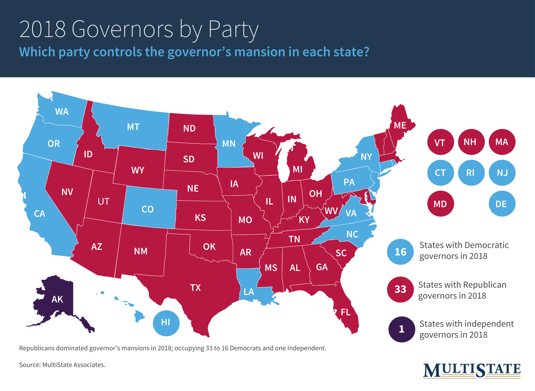 2018 Governors by Party (2)
