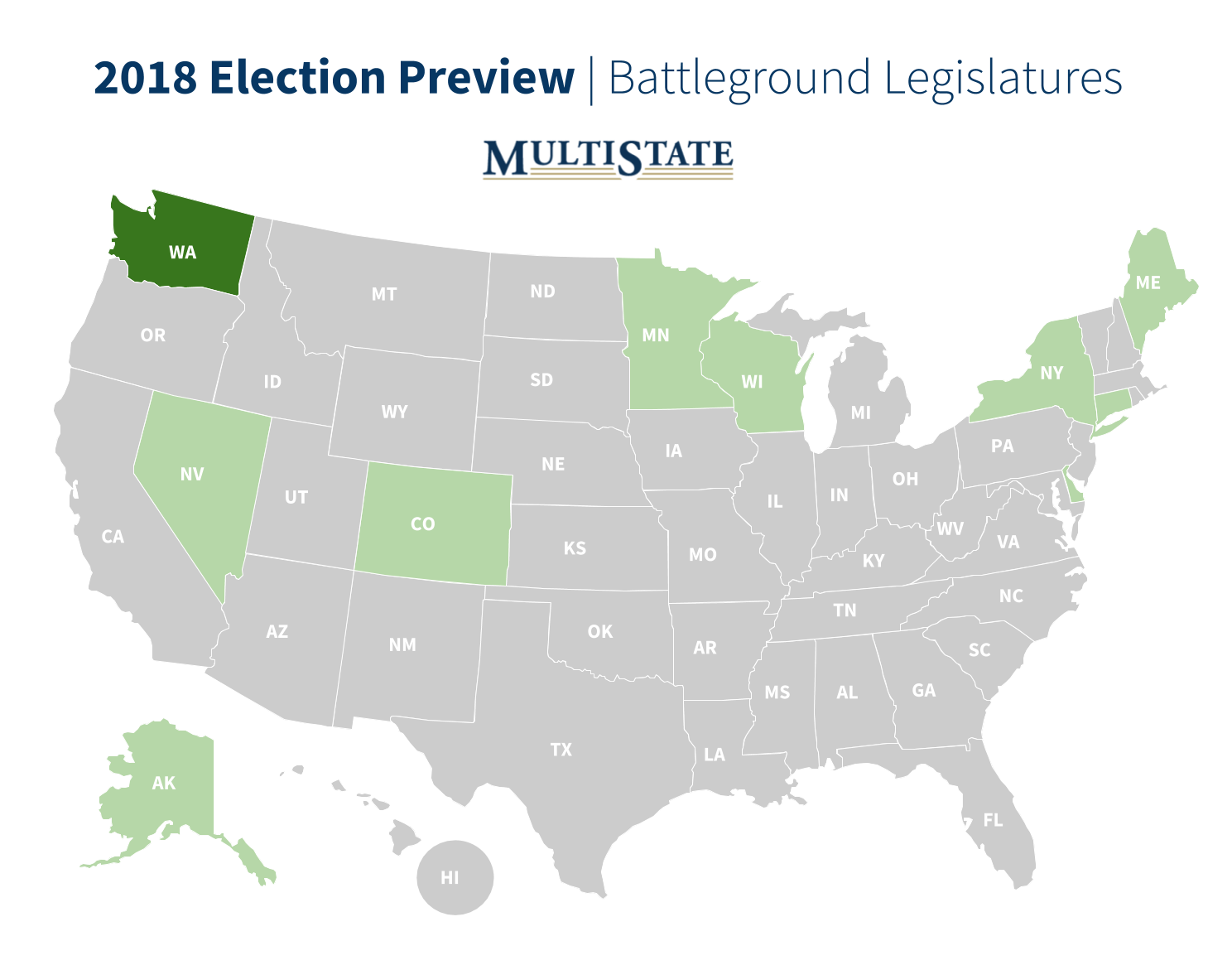 Washington Election Preview Map