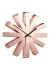 relógio de parede cobre design inovador