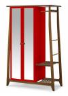 armário multiuso floripa 2 portas vermelho