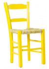 Cadeira em Madeira Rústica e palhinha