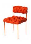 Cadeira Cloud Humberto da Mata Laranja e Vermelho