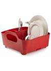 escorredor de pratos vermelho