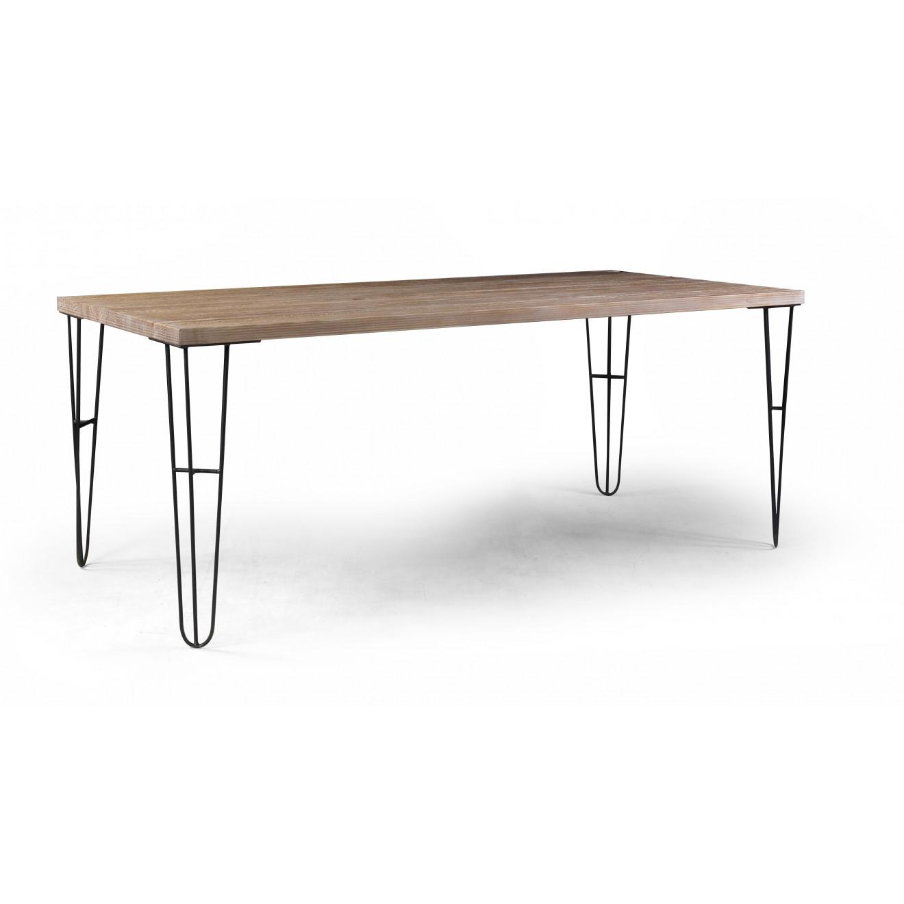 Mesa iron mesas de jantar estilo industrial muma for Mesa de centro industrial