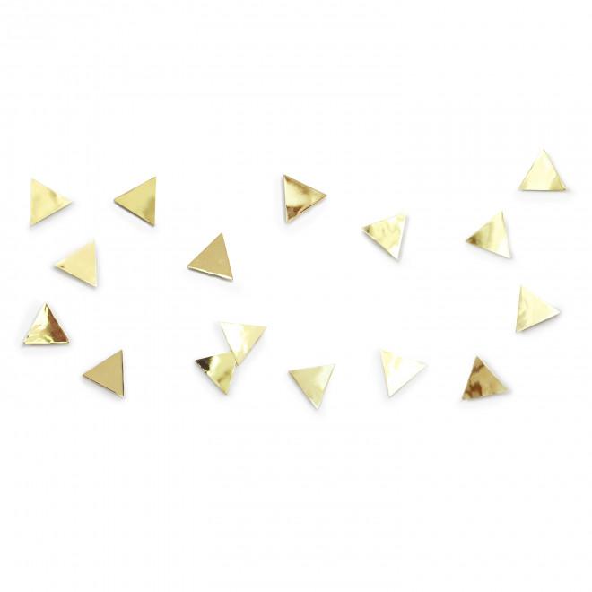 decorador de parede triângulo bronze