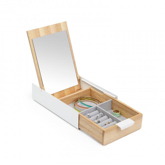 caixa de jóias em madeira