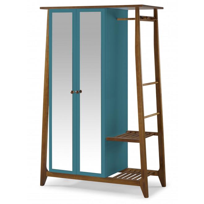 armário multiuso duas portas azul