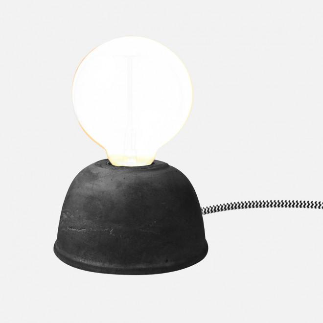 luminária cimento preto