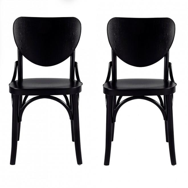 cadeira em madeira na cor preta