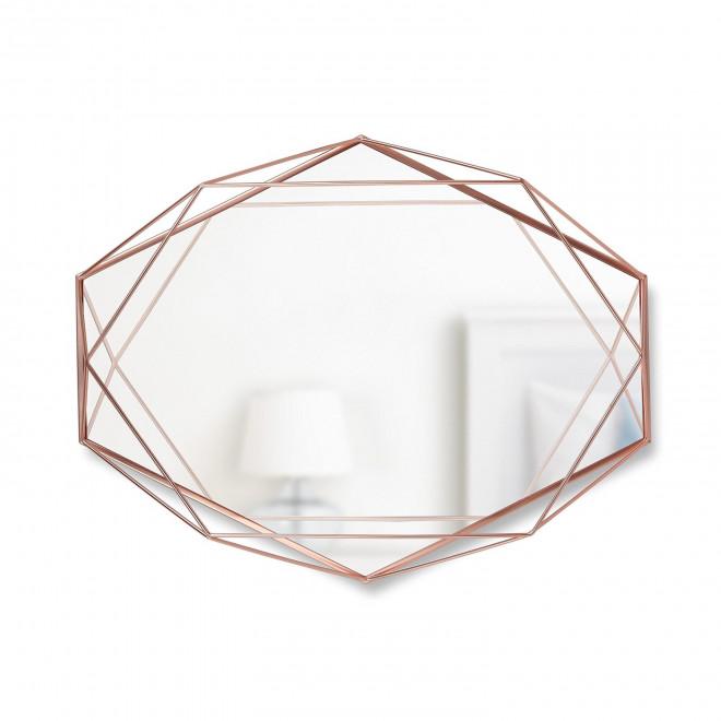 espelho com moldura em cobre
