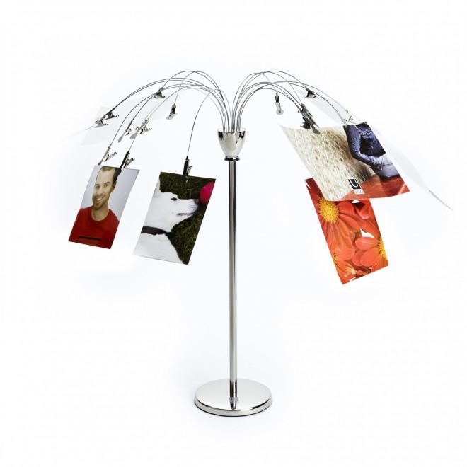 porta-retrato de mesa com clips
