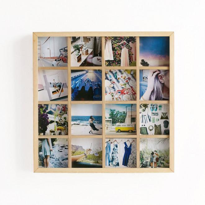 moldura de fotos em madeira