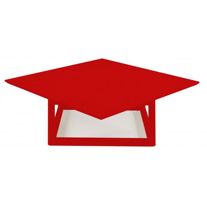 mesa de centro vermelha