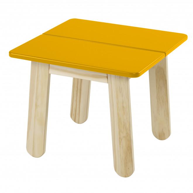 mesa lateral colorida madeira amarela