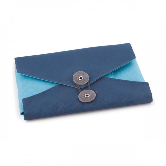 Organizador para viagens em tecido azul