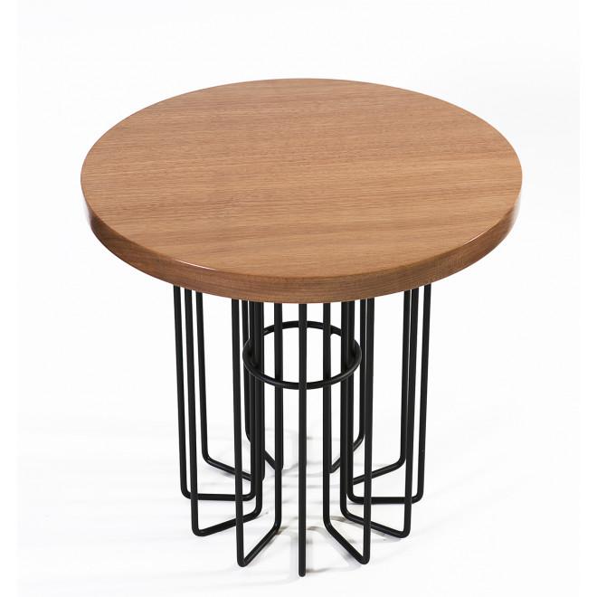 mesa lateral estilo industrial
