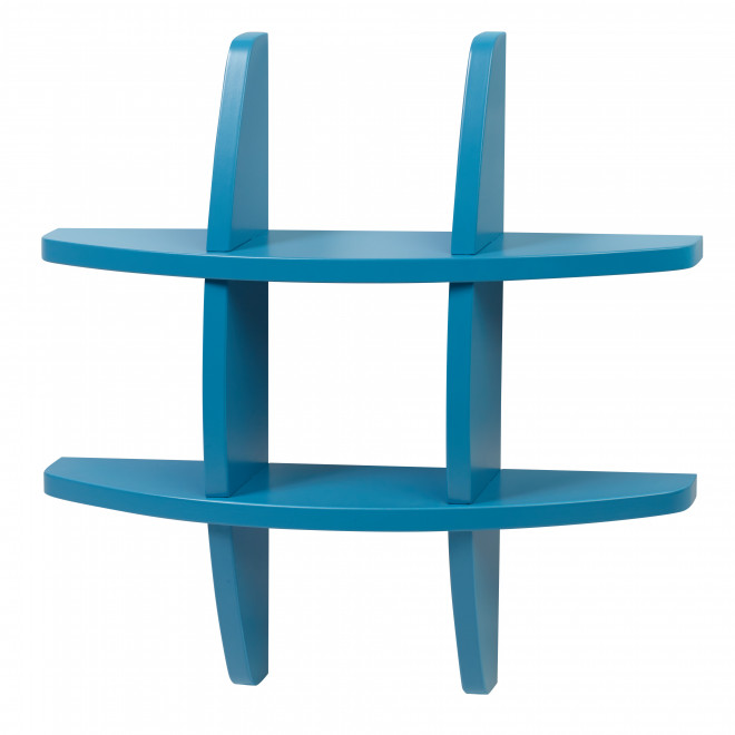prateleira colorida moderna azul