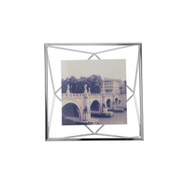 Porta-Retrato Prisma Quadrado Prata