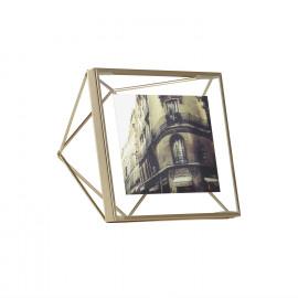 Porta-Retrato Prisma Quadrado Dourado
