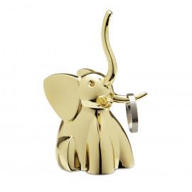 Porta-Anéis Zoola Elefante Dourado