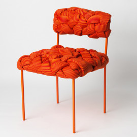 Cadeira Cloud Laranja e Vermelho