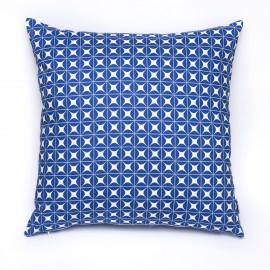 Capa de Almofada Gradil Estrela Azul