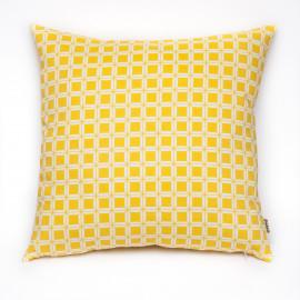 Capa de Almofada Gradil Quadrado Amarelo
