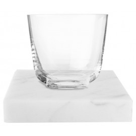 Porta-copos de Mármore Carrara Quadrada