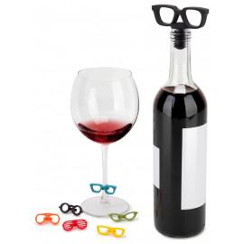Rolha e Marcadores de Taças Glasses