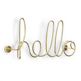 Letreiro de Parede Hello Dourado