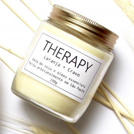Vela Aromática Therapy - Laranja + Cravo
