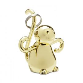 Porta-anéis Zoola Macaco Dourado