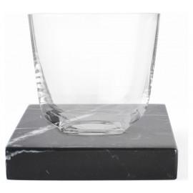 Porta-copos de Mármore Nero Quadrado